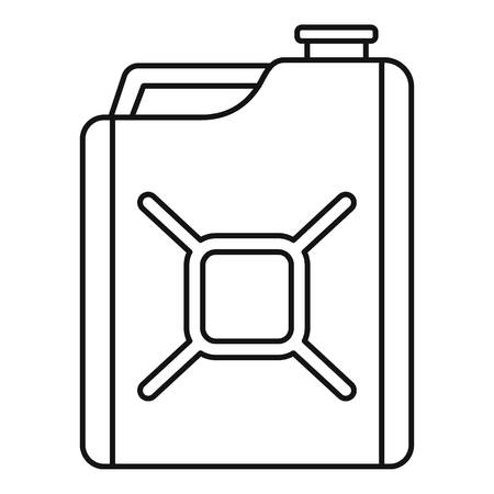 Gas canister icon. Outline gas canister vector icon for web design isolated on white background Banco de Imagens - 112307500