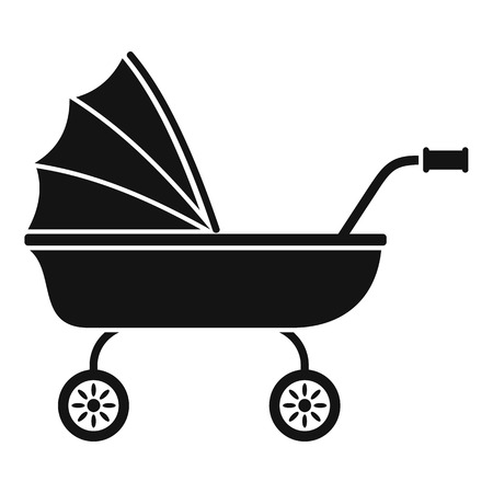 Baby trolley icon. Simple illustration of baby trolley vector icon for web design isolated on white background Ilustração