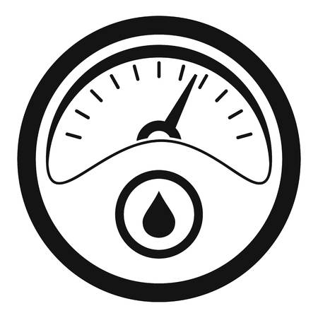 Petrol dashboard icon. Simple illustration of petrol dashboard vector icon for web design isolated on white background