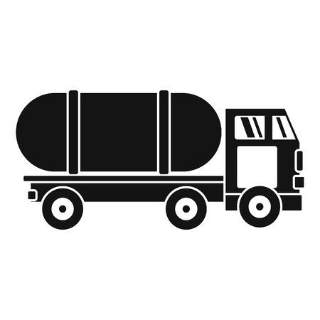 Tanker truck icon. Simple illustration of tanker truck vector icon for web design isolated on white background Vetores