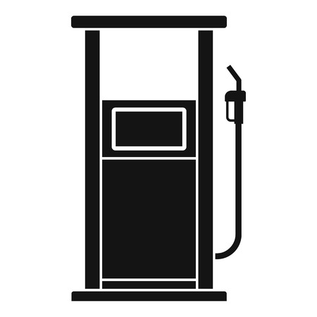 Fuel refill stand icon. Simple illustration of fuel refill stand vector icon for web design isolated on white background Illustration