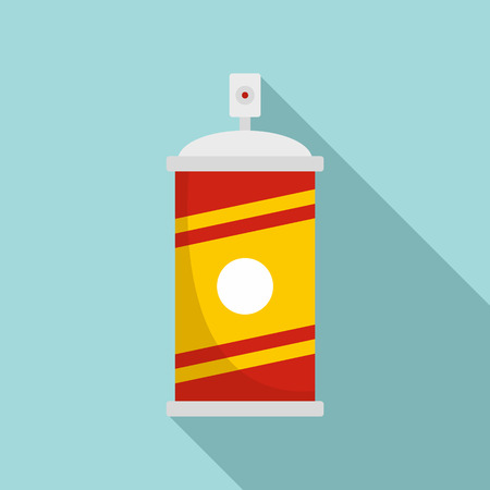 Painting spray icon. Flat illustration of painting spray vector icon for web design Stock Vector - 112307548
