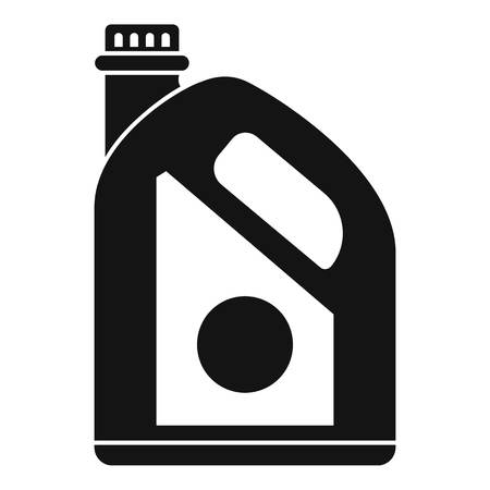 Oil plastic canister icon. Simple illustration of oil plastic canister vector icon for web design isolated on white background Vektorové ilustrace
