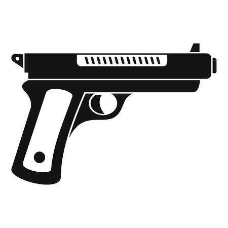 Gangster pistol icon. Simple illustration of gangster pistol vector icon for web design isolated on white background