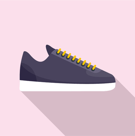 Rap sneakers icon. Flat illustration of rap sneakers vector icon for web design