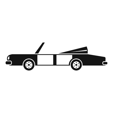 Rap american car icon. Simple illustration of rap american car vector icon for web design isolated on white background Vettoriali