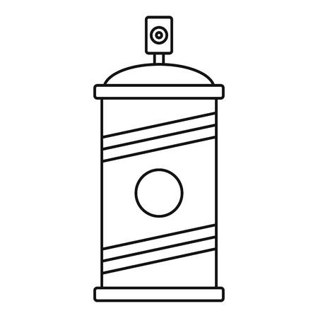 Painting spray icon. Outline painting spray vector icon for web design isolated on white background