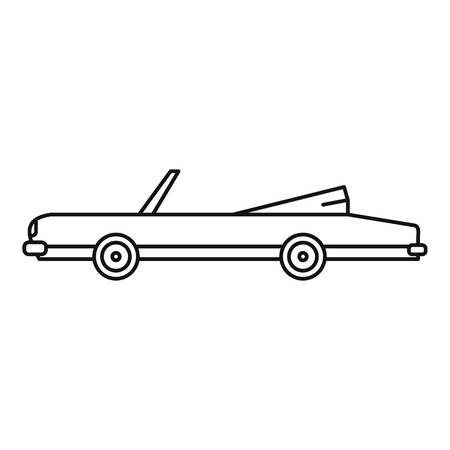 Rap american car icon, outline style Illustration