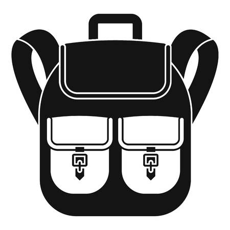 Trip backpack icon. Simple illustration of trip backpack vector icon for web design isolated on white background