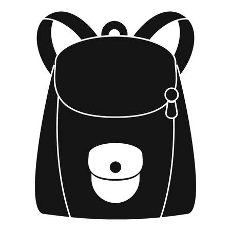 Modern backpack icon. Simple illustration of modern backpack vector icon for web design isolated on white background