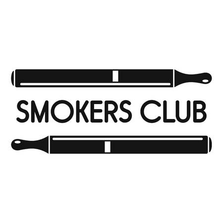 Smokers club logo, simple style Ilustrace