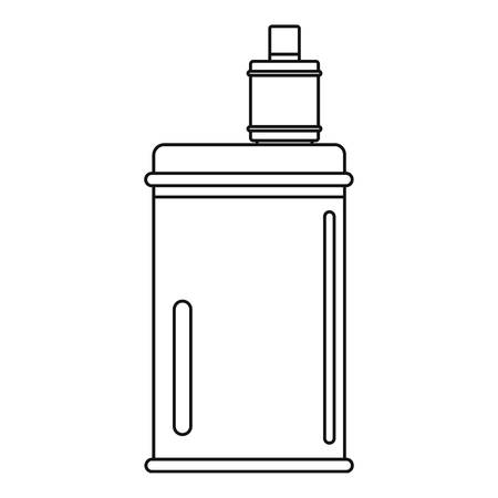 Vape mod icon. Outline vape mod vector icon for web design isolated on white background
