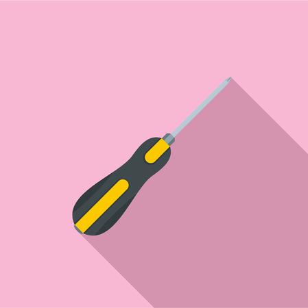 Screwdriver icon. Flat illustration of screwdriver vector icon for web design