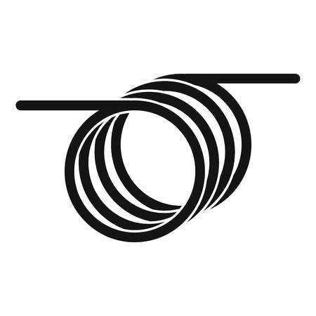 Symbol für Spiralkabel. Einfache Illustration der Spiralkabelvektorikone für das Webdesign lokalisiert auf weißem Hintergrund