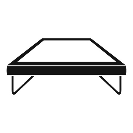 Fashion trampoline icon. Simple illustration of fashion trampoline vector icon for web design isolated on white background