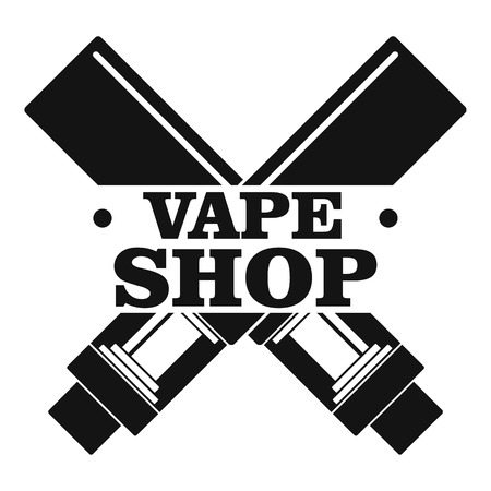 Modern vape shop logo, simple style
