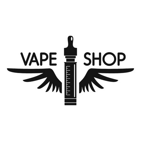 Wings vape shop logo, simple style