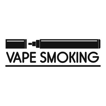 Vape smoking logo, simple style Illustration