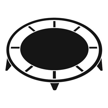 House trampoline icon, simple style Illustration