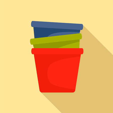 Flowerpots icon. Flat illustration of flowerpots vector icon for web design  イラスト・ベクター素材
