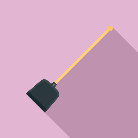Garden shovel icon, flat style
