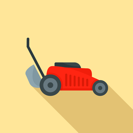 Grass cut machine icon. Flat illustration of grass cut machine vector icon for web design