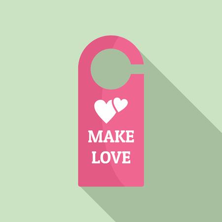 Faire l'icône d'étiquette de pièce d'amour. Télévision illustration de faire l'amour icône vecteur tag pour la conception web