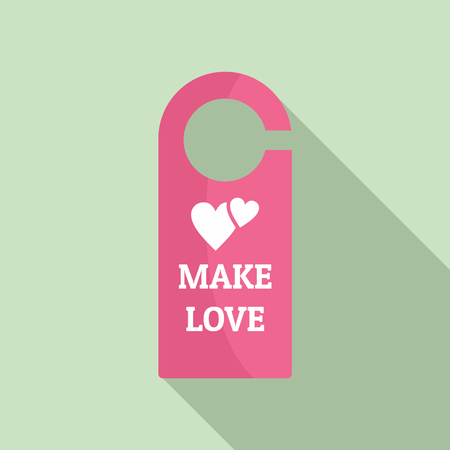 Make love room tag icon. Flat illustration of make love room tag vector icon for web design