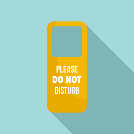 Door hanger tag icon, flat style