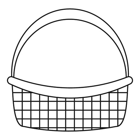 Farm basket icon. Outline farm basket vector icon for web design isolated on white background