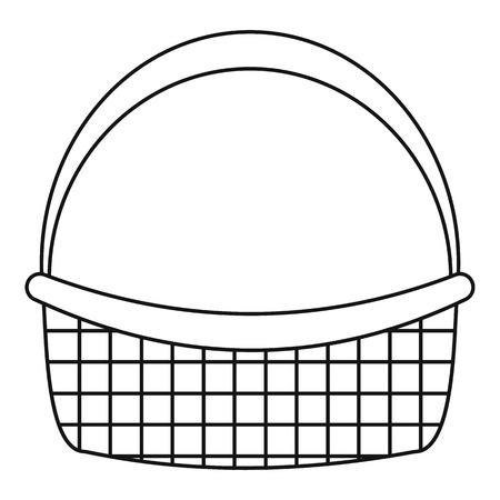 Farm basket icon. Outline farm basket vector icon for web design isolated on white background