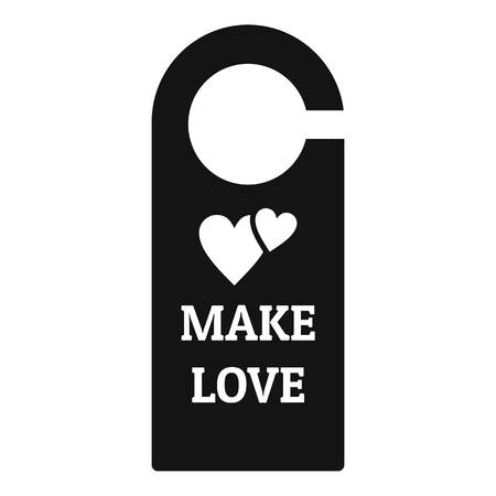 Make love room tag icon. Simple illustration of make love room tag vector icon for web design isolated on white background Imagens - 112307840