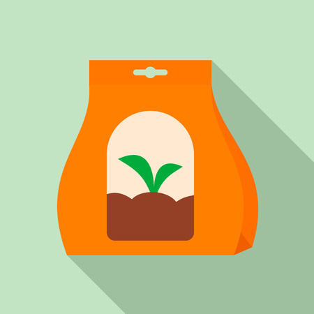 Plant seeds icon. Flat illustration of plant seeds vector icon for web design