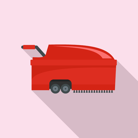 Hall vacuum cleaner icon. Flat illustration of hall vacuum cleaner vector icon for web design