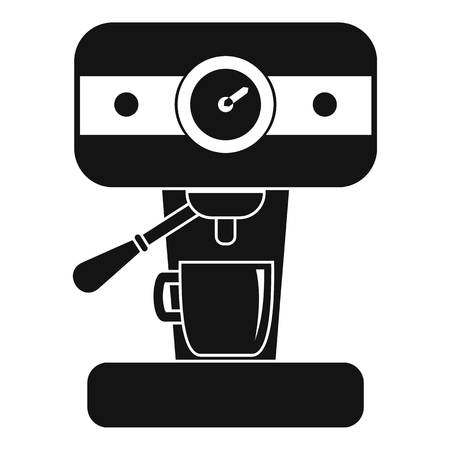 Bar coffee machine icon. Simple illustration of bar coffee machine vector icon for web design isolated on white background