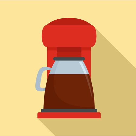 Classic coffee machine icon. Flat illustration of classic coffee machine vector icon for web design Illustration