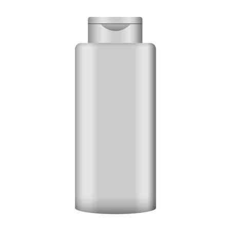 Gel hair bottle mockup. Realistic illustration of gel hair bottle vector mockup for web design isolated on white background