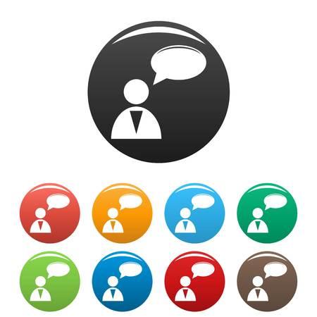 Speaker icons set.  simple illustration of speaker icons isolated on white background