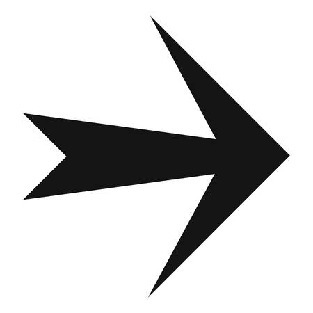 Arrow icon in black. Simple illustration of arrow icon  isolated on white background