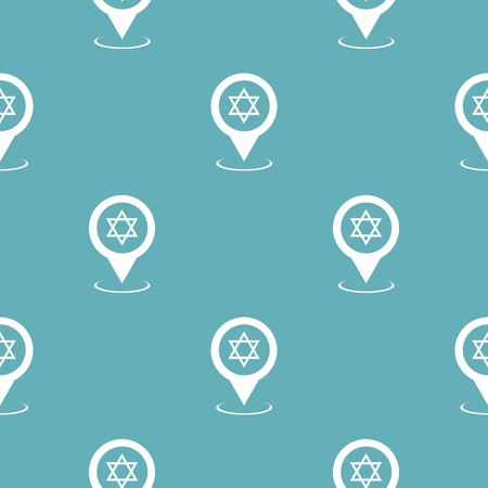 Synagogue map pointer pattern seamless blue. Simple illustration of   pattern seamless geometric repeat background Stock Photo