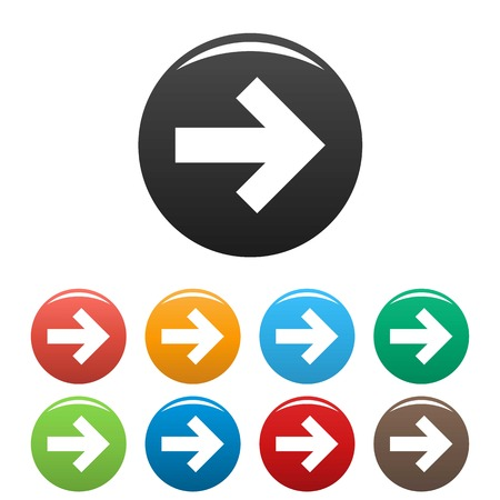 Arrow icons set simple Stock Photo