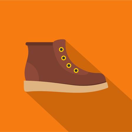 Hiking boots icon  flat Foto de archivo