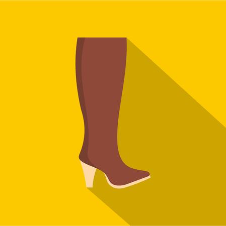 Woman boots icon  flat Foto de archivo