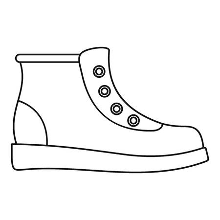 Hiking boots icon  thin line