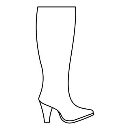 Woman boots icon  thin line Foto de archivo