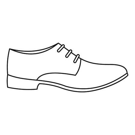 Icône de chaussure homme fine ligne