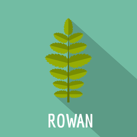 Rowan leaf icon, flat style Stock Photo