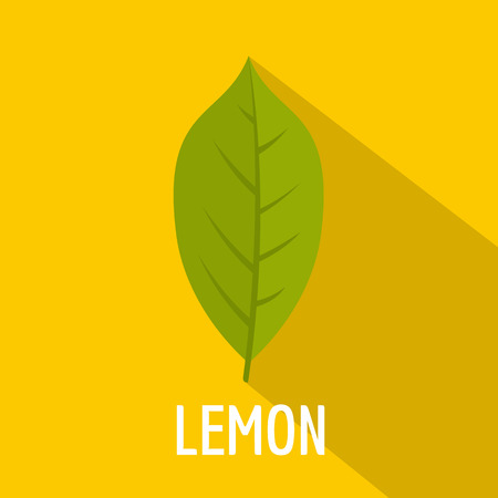 Lemon leaf icon, flat style Stock Photo
