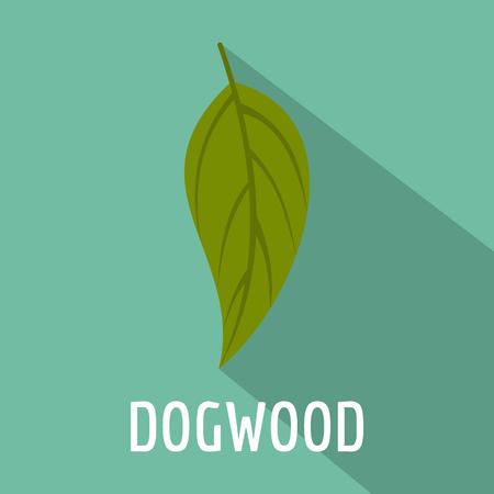 Dogwood leaf icon, flat style Stock Photo