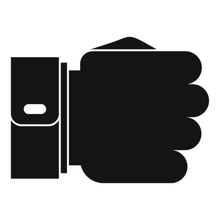 Hand fist icon, simple black style Stock Photo
